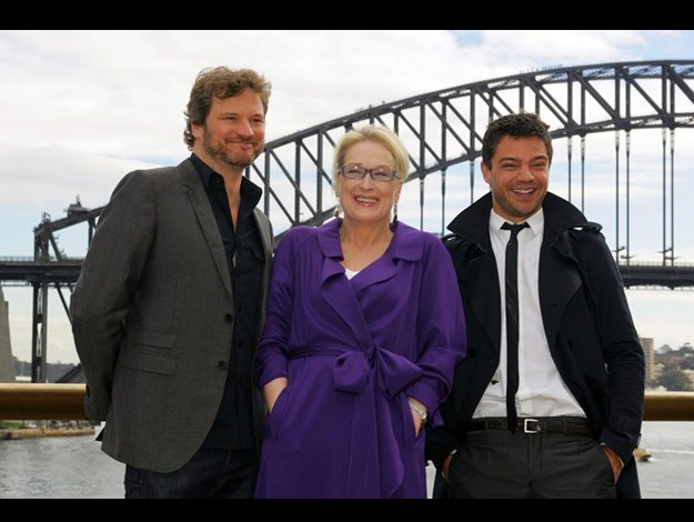 In Sydney promoting Mama Mia with Colin Firth and Dominic Cooper.