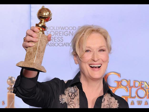 Winning the Golden Globe for Best Actress in a Drama in 2012.