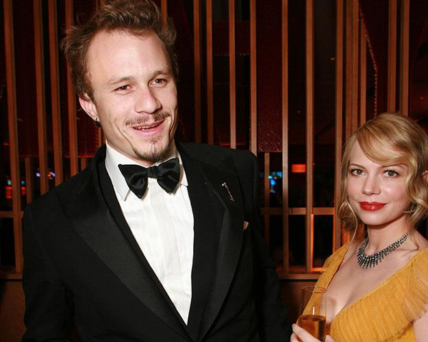 The late Heath Ledger with Michelle Williams at the Vanity Fair Oscar Party in 2006.