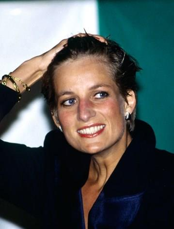 A fresh-faced post-divorce Diana.