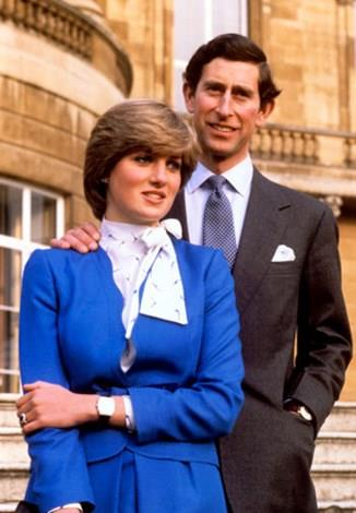 Diana and Charles announcing their engagement in 1981.