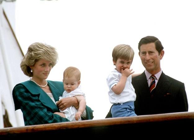 The Wales family on the royal yacht.