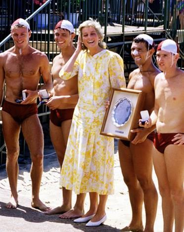 Diana in Australia in 1983.