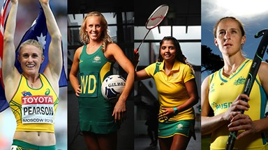 The girls of the Commonwealth Games