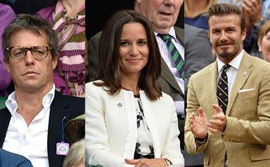 Celebrities at Wimbledon Tennis Tournament