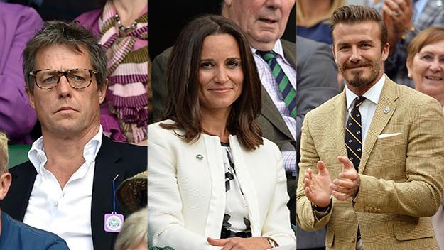 Hugh Grant, Pippa Middleton, David Beckham