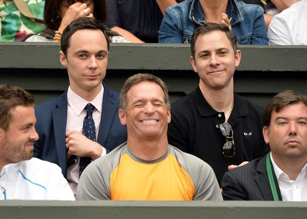 Hmmmm even Dr Sheldon Cooper, we mean Jim Parsons, was seen in the stands.