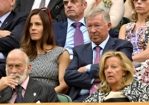 Perhaps Sir Alex Ferguson was grumpy he had been dragged along to the tennis while the World Cup was on, or maybe someone just reminded him that England were out? Poor Fergie...