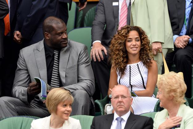 Basketball legend Shaquille O'Neal was spied at the tennis on day one of the championship.