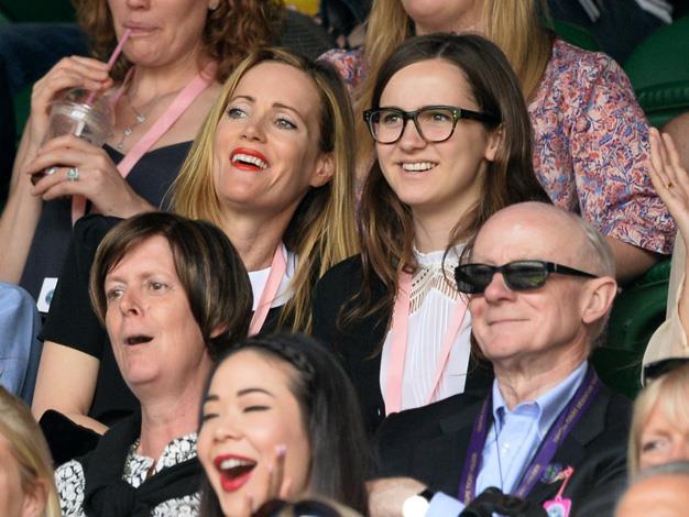 Knocked Up star Leslie Mann took daughter Maude Apatow to attend the Novak Djokovic v Radek Stepanek match on centre court.