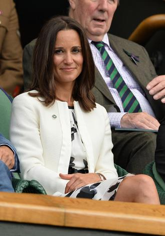Pippa Middleton looked super chic when she was snapped in the stands.