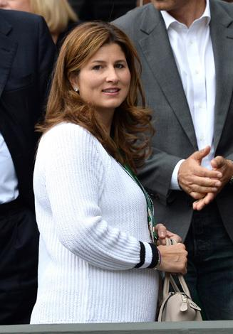 Rodger Federer's wife Mirka Federer is a constant fixture at Grand Slam competitions.