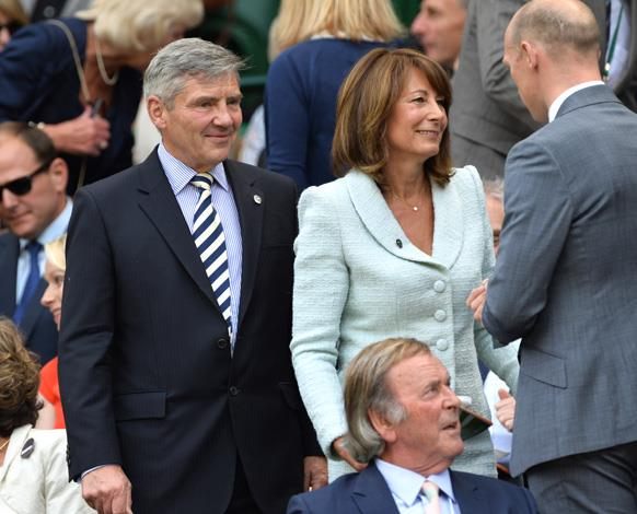 It seems the Wimbledon is a family affair for the Middleton family. Michael Middleton and Carole Middleton were spotted on day five.
