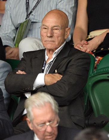 Veteran actor Patrick Stewart made waves with his tennis cameo.