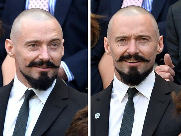 Hugh Jackman debuted his interesting facial fuzz at this year's competition. Don't stress ladies, it's just for a role! Hugh will be back to his handsome-self once he's finished playing pirate Blackbeard in the live-action version of Peter Pan.