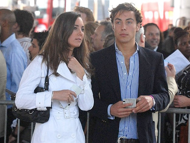 James with his sister Catherine in 2007.