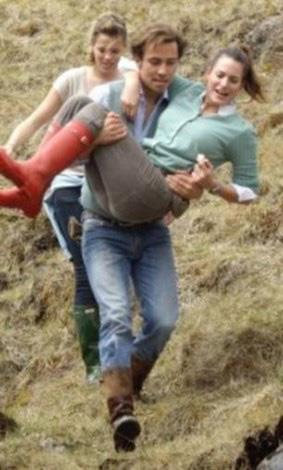 Carrying a female friend during a Lake District mini-break.
