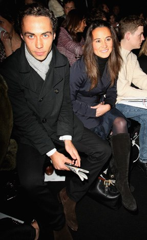 James and Pippa popped up at more VIP events once the royal engagement was announced. Here the siblings sit front row at the Issa London show for London Fashion Week in 2010.