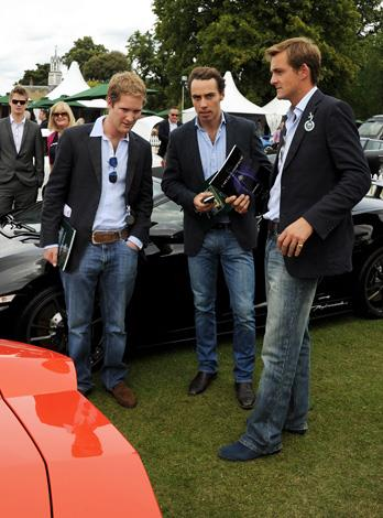 Just like most 20-something men James Middleton enjoys fast cars and shows off his enthusiasm at an auction in 2011.