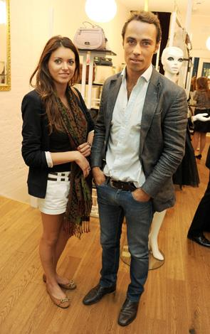 James still has some young celebrity friends. Here he and a friend attend the Mischa Barton Boutique flagship store launch party at Old Spitalfields Market in London in 2012.