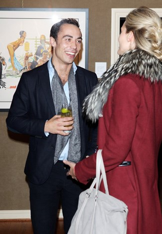 James is snapped chatting with a blonde at the 50 Years Of James Bond celebrations in London in 2012.