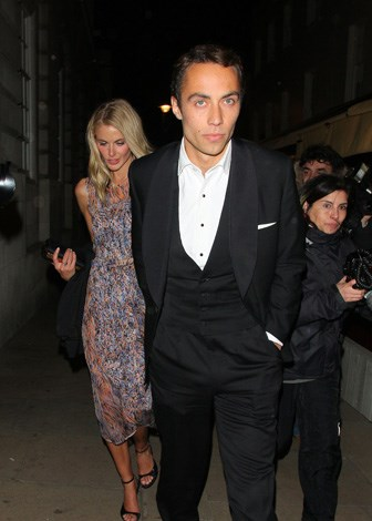 Making his relationship public: James steps out with current girlfriend Donna Air after leaving exclusive Lou Lou's nightclub in June, 2013.