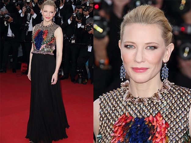 The Aussie actress attends the 'How To Train Your Dragon 2' Premiere at the 67th Annual Cannes Film Festival.