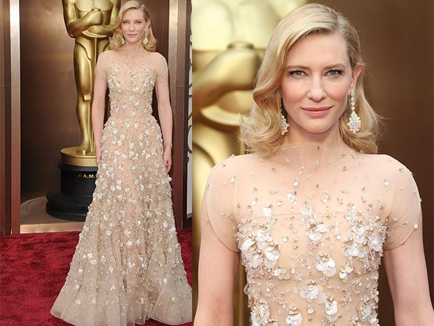 Cate wowed crowds in her Armani Prive at the Oscars this year.