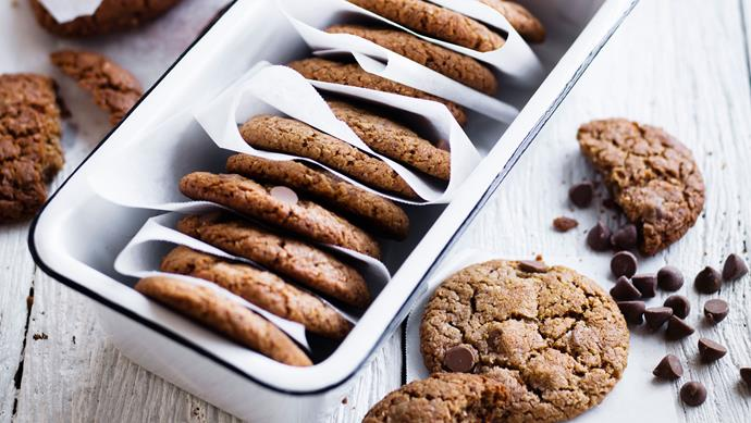 """**[Chocolate and coconut cookies](https://www.womensweeklyfood.com.au/recipes/chocolate-and-coconut-cookies-26796