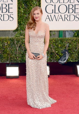The wife of Sacha Baron Cohen looked stunning at the 2013 Golden Globes.