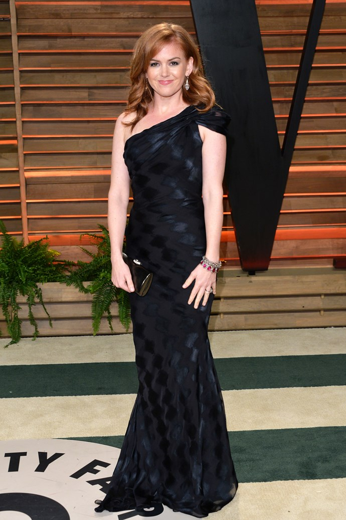 The Aussie starlet wowed in black at the 2014 Vanity Fair Oscar Party.