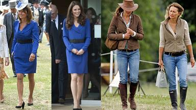 Carole Middleton and Kate Middleton's similar style