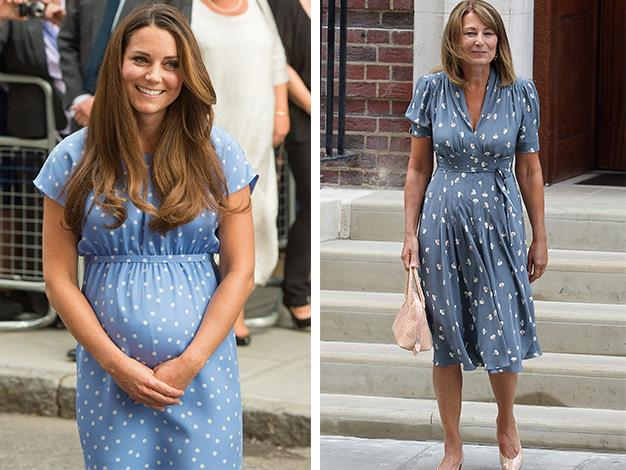 Following the birth of Prince George, many were quick to compare the outfits of Carole Middleton and her daughter Kate on the steps of St. Mary's Hospital.