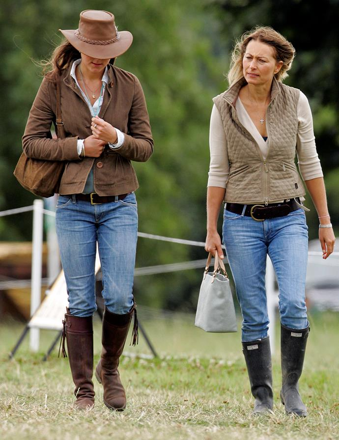 Back in 2005, the Middleton ladies dressed almost the same. The photo was taken at the Festival of British Eventing at Gatcombe Park.