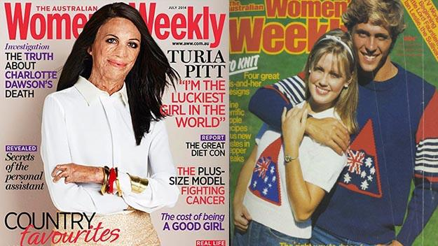 This month's issue featuring Turia; and the May 13, 1981 edition featuring her father, Michael.