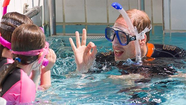 Prince William snorkelling