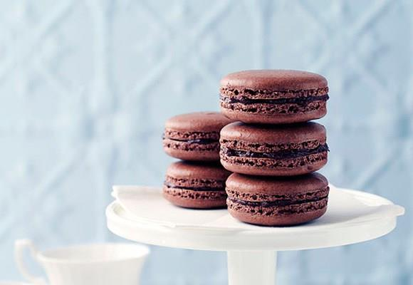 Chocolate French macaroons. [Click here for the recipe](http://www.aww.com.au/food/recipes/2011/4/chocolate-french-macaroons/).