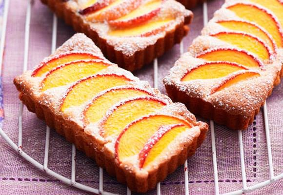 Peach and almond tarts. [Click here for the recipe](http://www.aww.com.au/food/recipes/2011/2/peach-and-almond-tarts/).