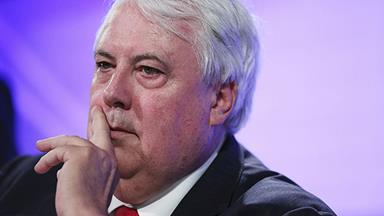 Clive Palmer storms out of interview
