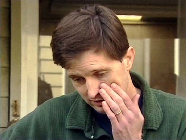 John Sharpe killed his wife Anna, who was five months pregnant with their son Francis, and his nineteen-month-old daughter Gracie, in the Melbourne suburb of Mornington in March 2004. He appeared on television in emotional interviews seeking information on his family's whereabouts, before eventually confessing to the murders. He was sentenced in 2005 to two consecutive terms of life imprisonment with a non-parole period of 33 years. Picture: AAP/Channel 10