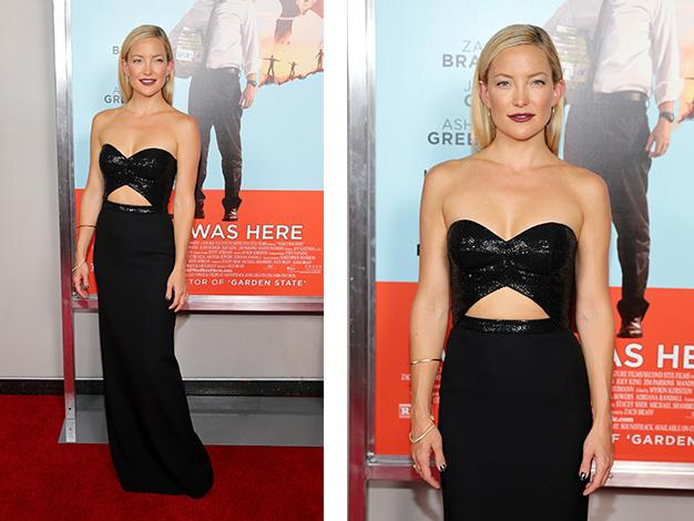 Kate Hudson in her Michael Kors LBD for the New York premiere of *Wish I Was Here*.