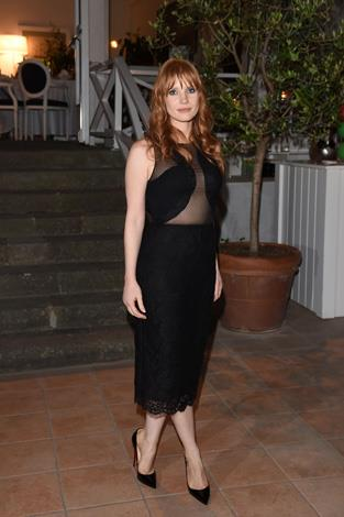 Jessica Chastain works the room in this sexy sheer creation.