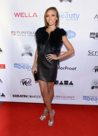 Fashion police host Giuliana Rancic plays with texture in the short and sweet number.