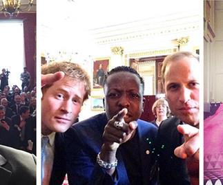 Prince Andrew selfie, Prince Harry selfie
