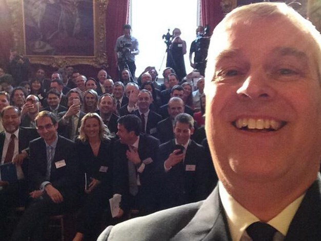 "Prince Andrew broke the British mould and was the first member of the royal family to join Twitter with a personal account. His first tweet read: ""Welcome to my Twitter account – AY"" and since then he has clearly mastered the art of taking a good selfie!"