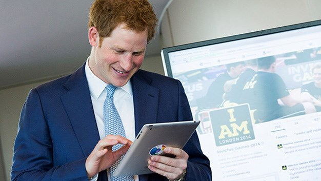 "Harry breached the royal technology barrier back in May when he fired off his first tweet on the @InvictusLondon handle. The message read: ""Hope everyone will get behind #invictusgames. Great opportunity to support and thank the men and women who have given so much. Harry."""