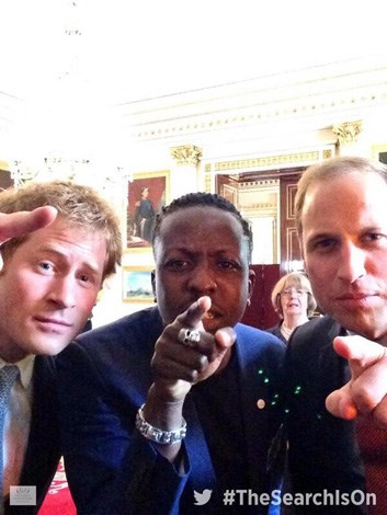 William and Harry took the opportunity to take some selfies together while at a Google hangout session where they were joining the search to find young people for the Queen's Young Leaders Awards.