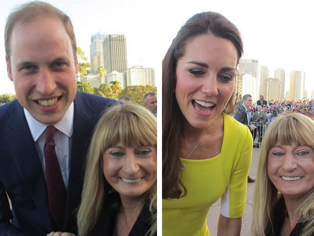 While they mightn't have their own Twitter account William and Kate posed for #selfies with fans while in Sydney earlier this year.