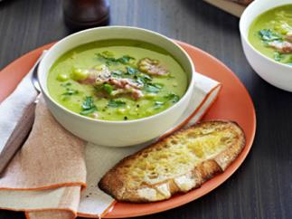 Classic pea and ham soup