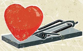 heart disease - heart in a mouse trap